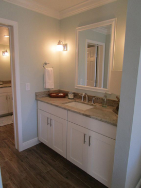 Bathroom Remodel Coastal White Shaker Cabinets